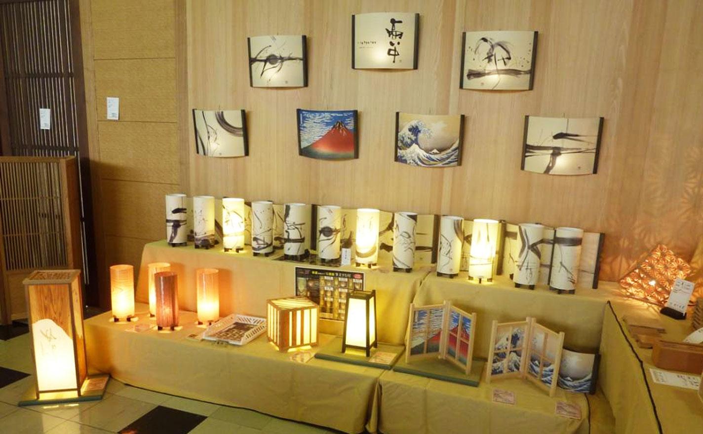 第61回大川木工まつり2011のアイインテリアさんの展示風景